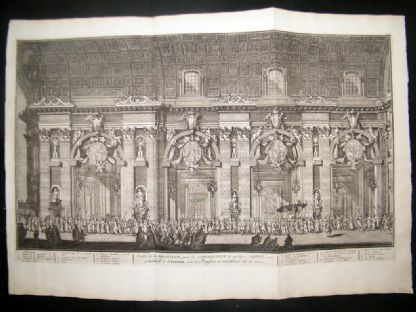 Picart C1730 LG Folio Print. Catholic Procession, St. Peters, Vatican Rome Italy | Albion Prints